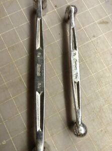 Lot Of 2 Snap On Socket Wrench 1 2 9 16 8 Socket Wrench 5 8 3 4