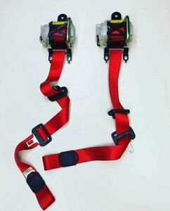 Mazda Mazdaspeed 3 Mps Front Seat Belts Set Red