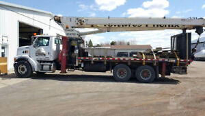2007 Terex Bt 4792 Boom Truck Crane Mounted On A 2007 Sterling Lt7501 92 Boom