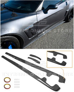 For 05 13 Corvette C6 Z06 Zr1 Style Hydro Carbon Fiber Side Skirts Mud Flaps