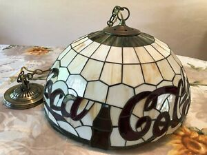 Beautiful Coca-Cola Hanging Tiffany Style Stain Glass Light Hanging Lamp Fixture