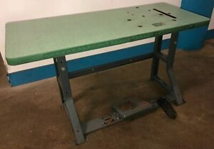 Vintage Singer Industrial Sewing Machine K leg Table And Top Our 4