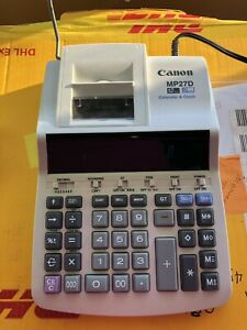 Canon Mp27d Calculator Clock Calendar 12 Digit 2 Color Print Tested And Working