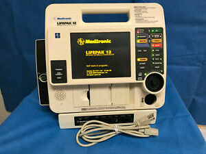 Lifepak 12 Biphasic Monitor Aed Pacer Printer Ac Tested Warranty Physio control