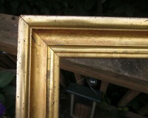 C1840 Outstanding Large American Wide Lemon Gilded Victorian Antique Folk Frame