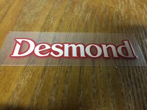 Desmond Regamaster Spoke Decal 15