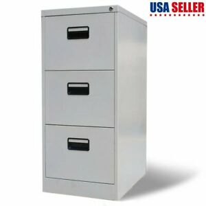 File Cabinet With 3 Drawer Steel Storage Organizer Container Security Equipment