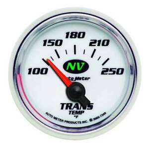 Auto Meter 2 1 16in Nv S Trans Temp Gauge 100 250