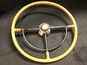 1947 1948 Cadillac Steering Wheel W Horn Ring Button Very Nice Original