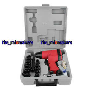 17pcs set 1 2 Inch Twin Hammer Air Impact Wrench Gun Set W Sockets