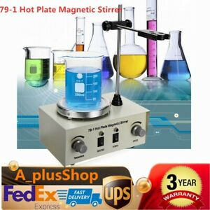 79 1 Hot Plate Magnetic Stirrer Mixer Stirring Laboratory Dual Control Usa Stock