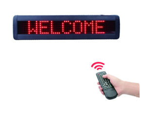 Indoor Red Led Programmable Message Sign Wireless Remote Control 17 x4