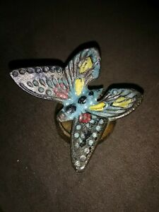 Antique Country Store Reciept Cast Iron Butterfly Paperweight