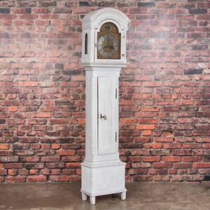 Antique Gray Painted Danish Grandfather Clock