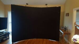 10 Full Fabric Black Skyline Mirage Pop up Display With Podium Kit Preowned