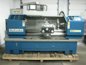 Victor 1860dcl 18 60 Cnc Flat Bed Lathe W Hydraulic 4 pos Turret