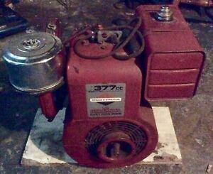 Vintage Briggs Stratton big Red 9hp 377cc Gas Powered Generator Working Rare