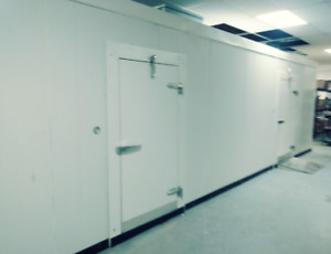 Custom Walk in Cooler 48 w X 27 d X 10 h With Refrigeration Bakery Bar Butcher