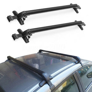 Car Top Luggage Roof Rack Cross Bar Carrier Adjustable Window Frame Universal