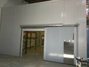 Custom Walk in Cooler 20 w X 64 d X 16 h With Refrigeration Bakery Bar Grow Club
