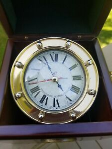 Vintage Authentic Models Ships Maritime Navigation Deck Chronometer Clock Case