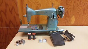 Precision Straight Stitch Sewing Machine Heavy Duty Leather Upholstery Serviced