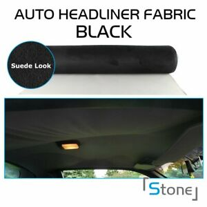 Polyester Suede Headliner Fabric Foam Car Roof Liner Ceiling Lining 72 X60 Inch