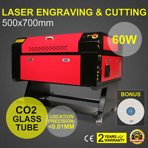 New 60w Co2 Laser Engraving Engraver Machine Artwork Cutting U flash 500x700mm