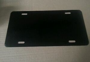 Lot Of 25 Black Aluminum License Plate Tag Blanks 025
