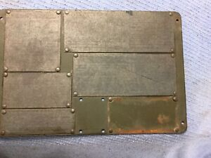 M38a1 Willys Jeep Mb Gpw Data Plate Panel W Plates