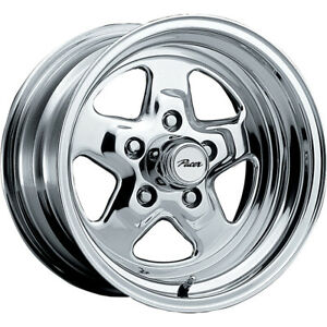 2 New 15x7 Pacer 521p Dragstar Polished Wheels Rims 00 5x4 50