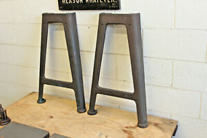 Vintage Industrial Machine Legs Cast Iron Work Bench Lathe Dining Table Desk 29