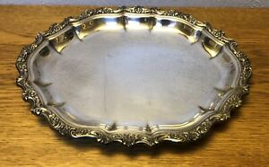 International Silver Co Countess Silverplate 15 5 X 12 5 Large Platter Tray
