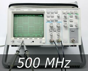 Hp Agilent 54616b 2 channel 500 Mhz Oscilloscope 2 New Probes Very Clean