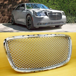 New Chrome Sliver Fit Chrysler 300 300c 2015 2019 Bentley Look Front Grille