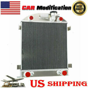 For 1928 1929 Ford Model A flathead Engine Classical 3 Rows Aluminum Radiator