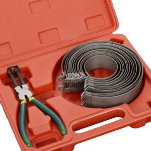Piston Ring Compressor Cylinder Installer With Ratchet Pliers 14 Band Tools Set