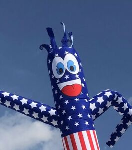 Usa Flag 20ft Air Dancer Sky Inflatable Tube Puppet For 18 blower