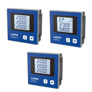 Intelligent Power Meter Lcd 3 phase Multi function Digital Ac Current Meter