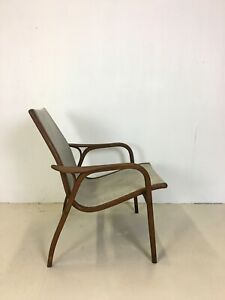 Danish Modern Teak And Leather Lounge Chair By Yngve Ekstrom For Swedese