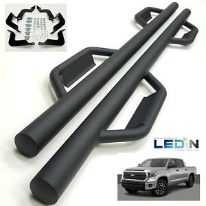 Side Step Nerf Bar For 07 21 Toyota Tundra Crewmax Extended Crew 3 Dropped Step