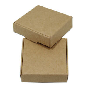 Brown Kraft Paper Boxes Wedding Favors Gift Box Candy Crafts Jewelry Packaging
