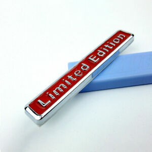 1x 3d Limited Edition Auto Car Sticker Badge Decal Motorcycle Emblem Red Fits 2001 Kia Sephia
