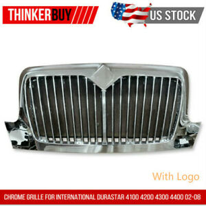 Chrome Grille For International Durastar 4100 4200 4300 4400 02 08 W Bugscreen