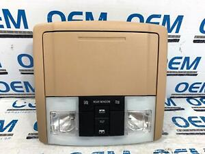 07 14 Ford Expedition Roof Overhead Light Dome Console Storage Tan Oem
