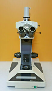 Nikon Microphot sa Upright Microscope Frame Body For Parts Or Repair