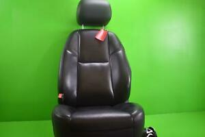 2010 2011 Chevy Avalanche 1500 Driver Lh Black Leather Electric Bucket Seat