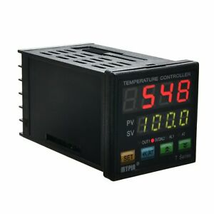 Digital Display Pid Temperature Controller Dual Type k Thermocouple Auto tuning