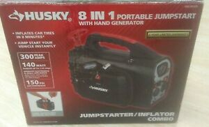 Husky 8 In 1 Portable Jump Start With Hand Generator