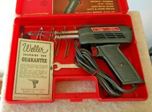 Weller 8200 n Dual Heat Soldering Gun 100 140 Watts Case Kit W Access Vintage